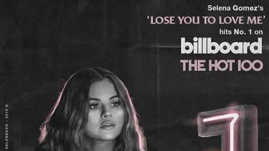 Selena Gomez's achieves first No. 1 on Billboard Hot 100 with 'Love You to Lose Me'