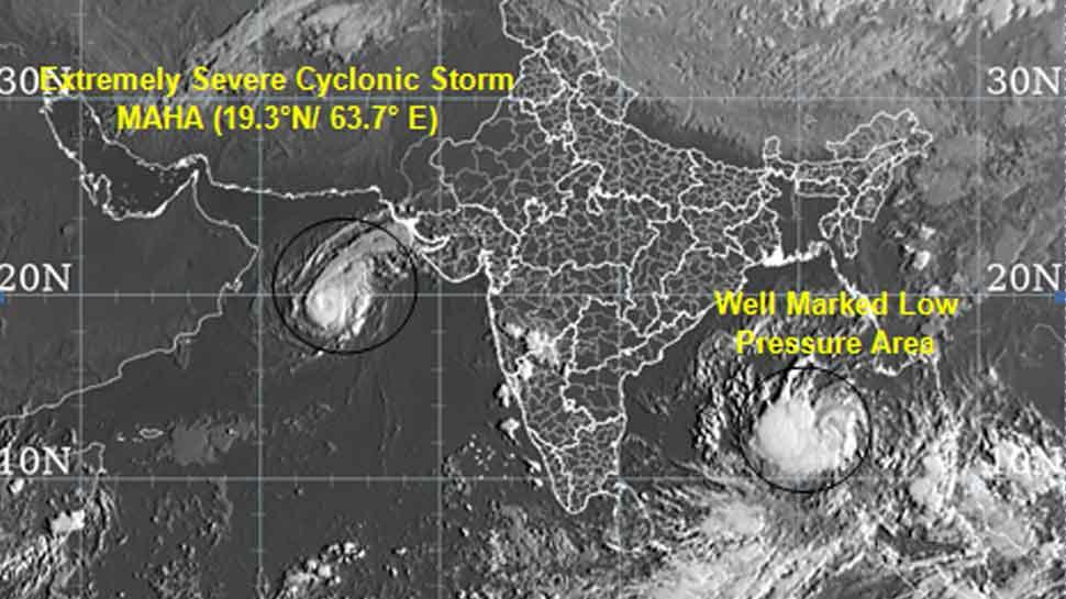 Cyclonic storm 'Maha' moving towards Gujarat coast; IAF, Navy, NDRF teams on alert