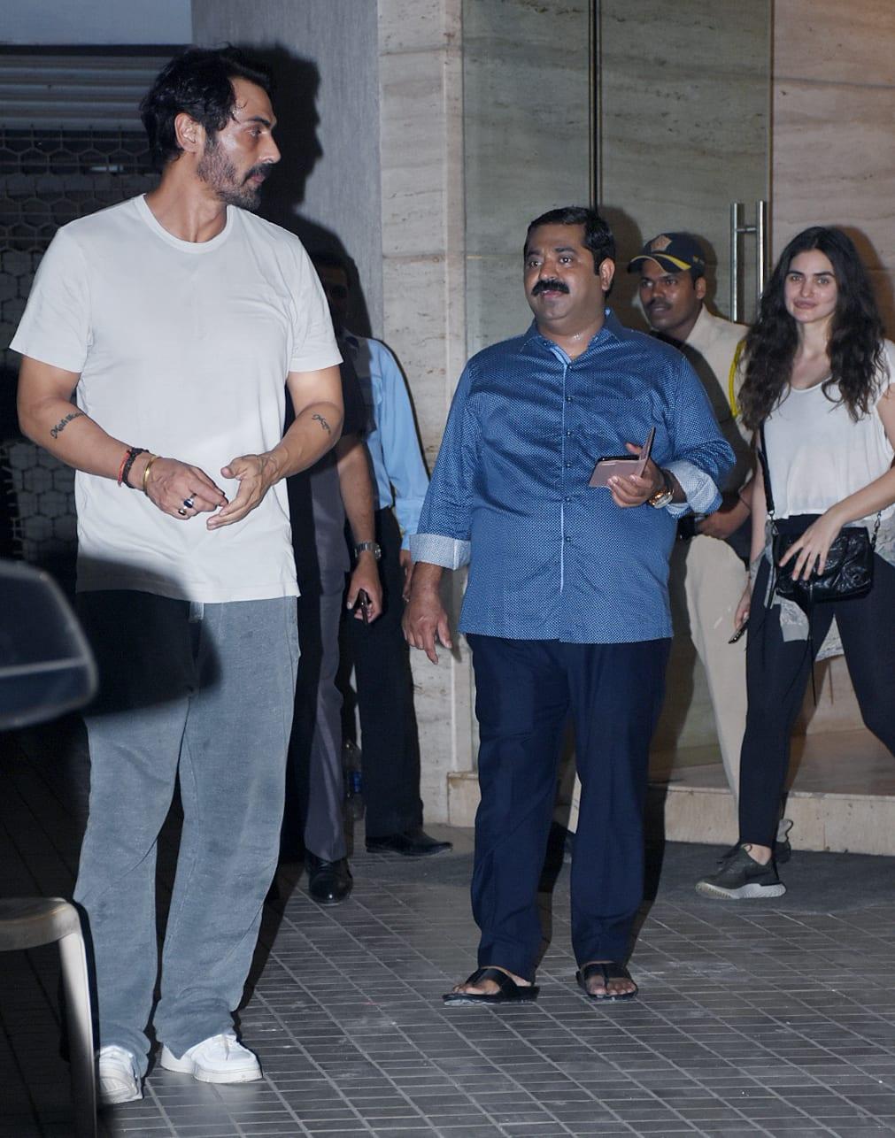 Arjun Rampal with girlfriend Gabriella Demetriades