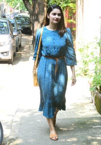Prachi looks pretty in a dress