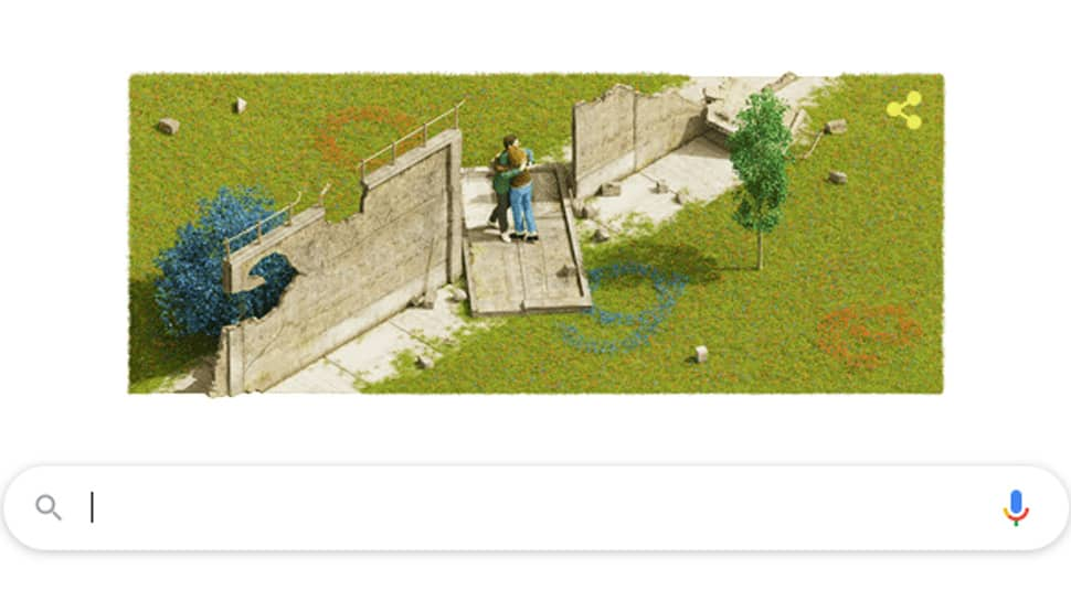 Google celebrates anniversary of the fall of the Berlin Wall with a doodle