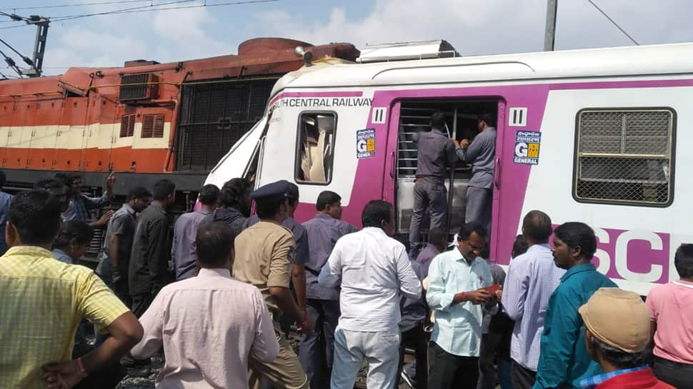 12 injured after two trains collide at Hyderabad railway station; services affected between Kacheguda-Falaknuma section