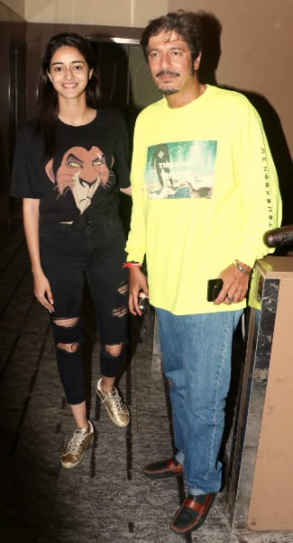 Ananya Panday with dad Chunky Panday