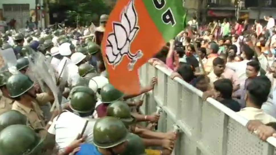 BJP workers lathicharged, 37 arrested for protesting against dengue menace in Kolkata, police use water cannons to disperse protesters
