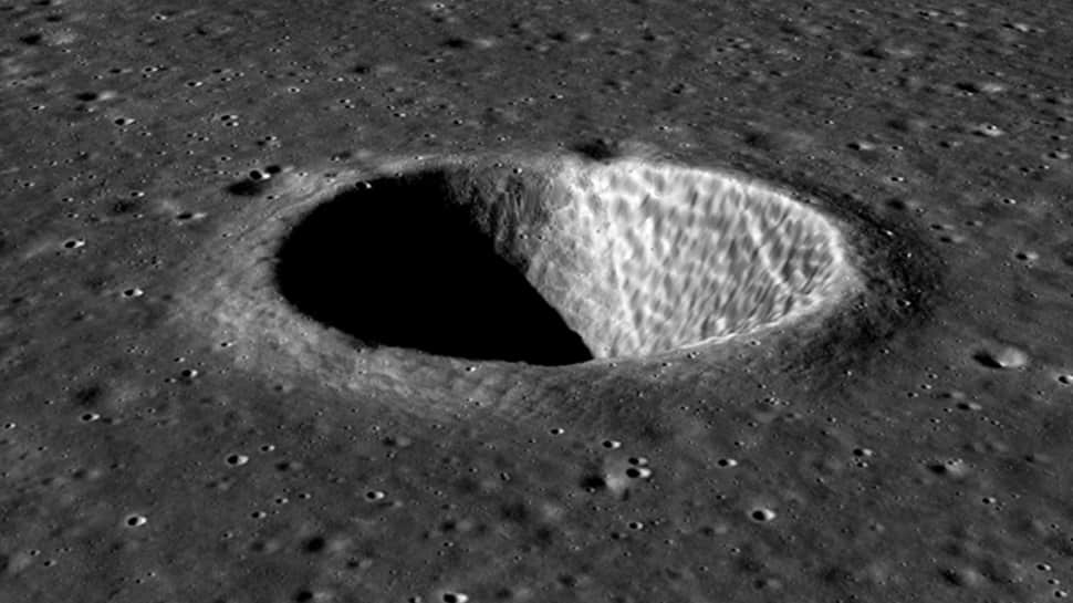 ISRO releases new 3D images of a crater on Moon`s surface captured by Chandrayaan-2