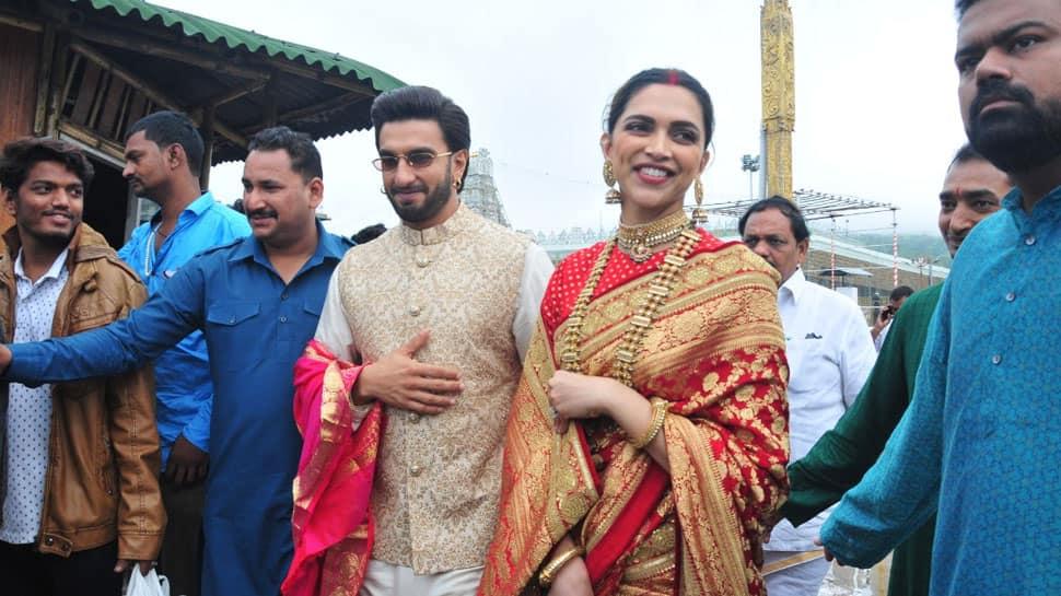 Deepika Padukone-Ranveer Singh seek Lord Venkateswara's blessings at Tirupati on first wedding anniversary—Photos
