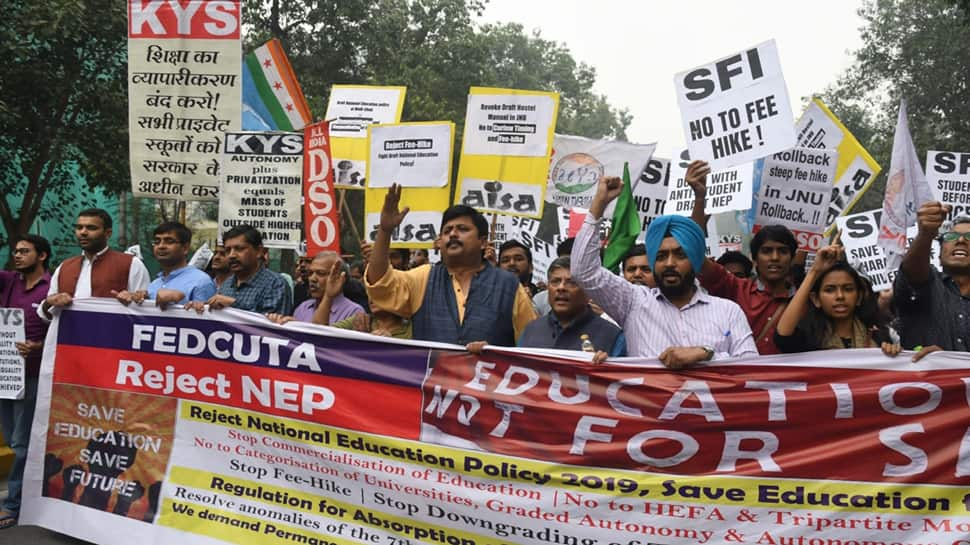 Amid raging protests by JNUSU, Student-Faculty Committee meeting proposes march towards Parliament