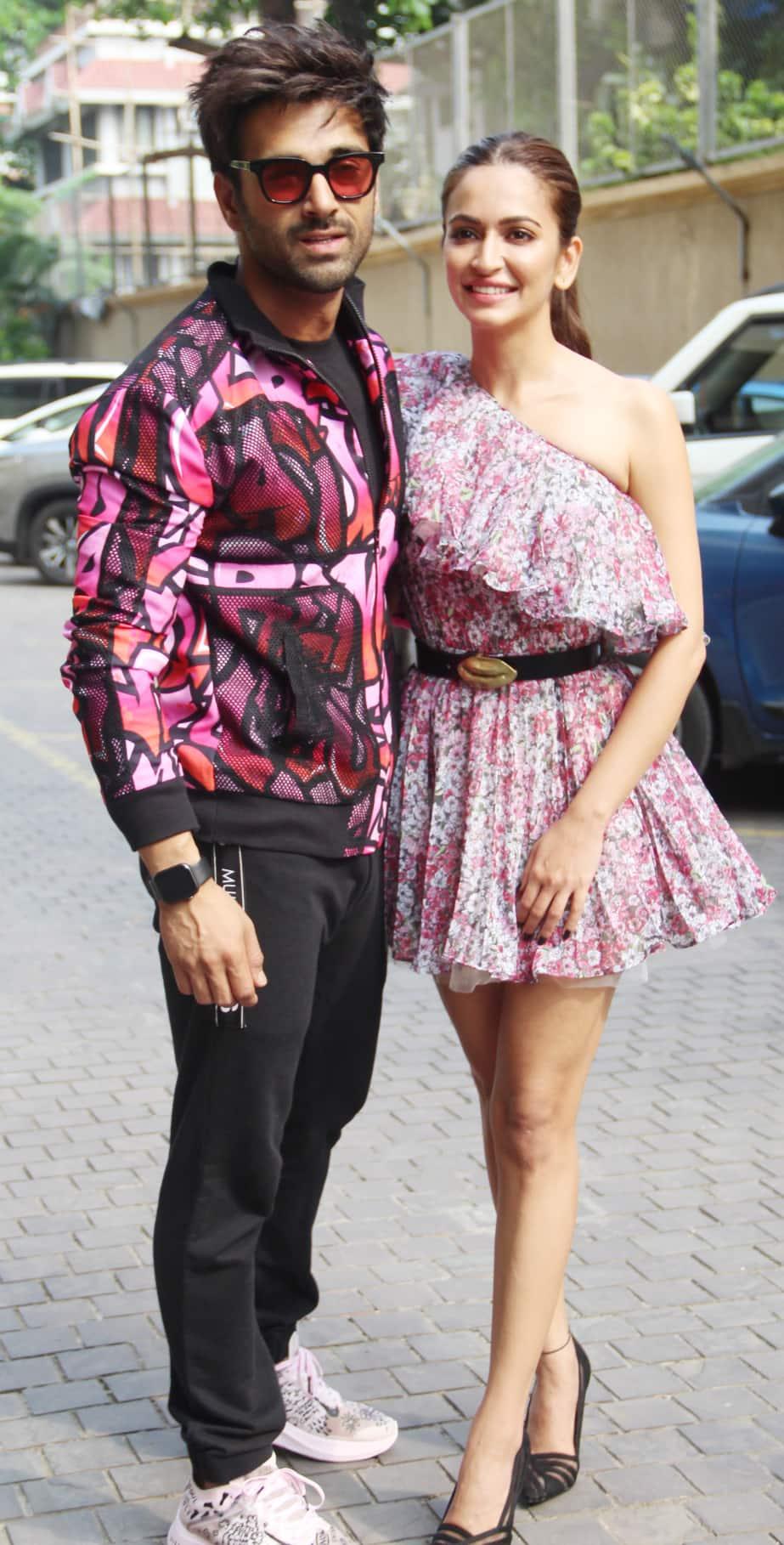 Kriti Kharbanda and Pulkit Samrat during 'Pagalpanti' promotions