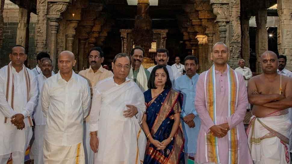 CJI Ranjan Gogoi offers prayers at Balaji temple in Andhra Pradesh's Tirumala ahead of retirement