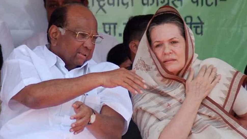 Sharad Pawar meets Sonia Gandhi to hold talks over Congress-NCP-Shiv Sena goverment in Maharashtra