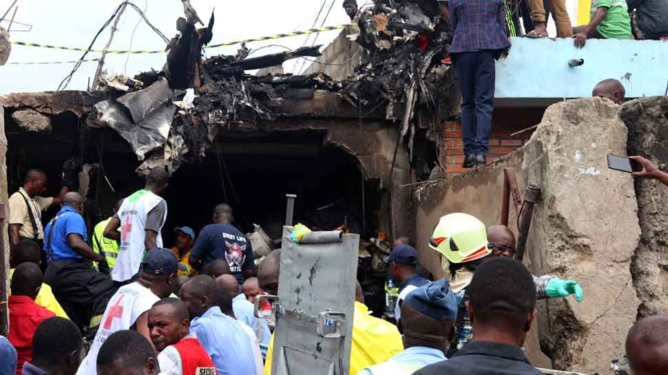 Plane crashes into residential homes in Congo, killing at least 24 people
