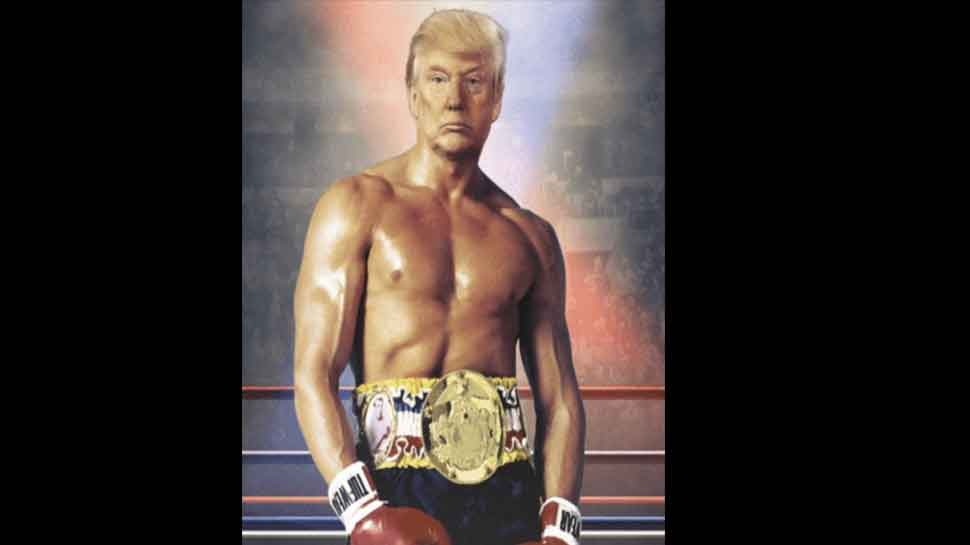 Donald Trump tweets doctored picture of himself as Rocky Balboa, sparks up Twitter
