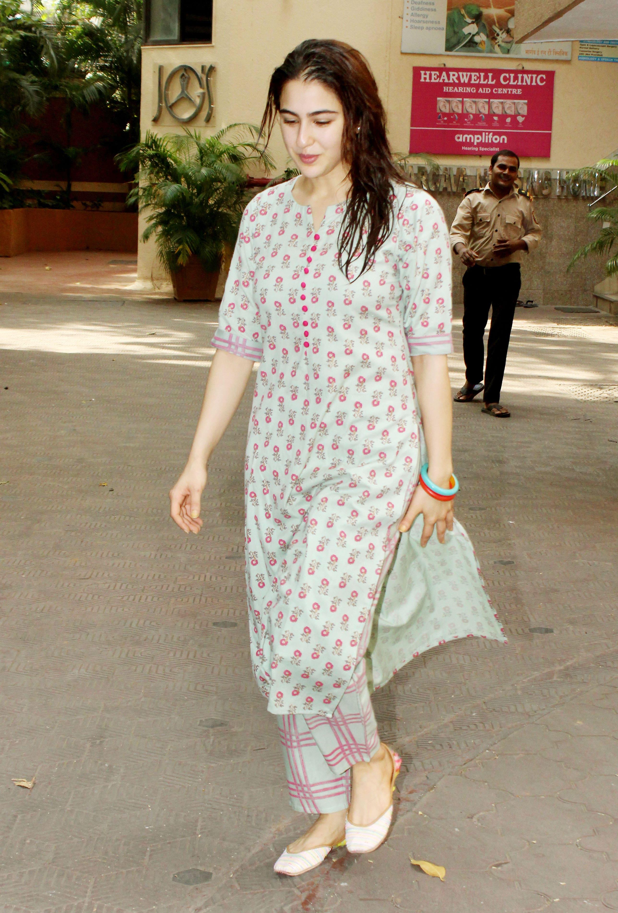 Sara Ali Khan spotted outside gym