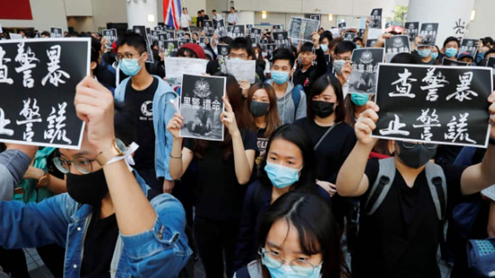 Thousands take to the streets in Hong Kong in fresh round of protests