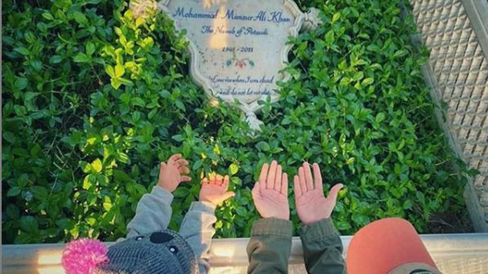 Soha Ali Khan visits father Mansoor Ali Khan's grave with daughter Inaaya- See pic