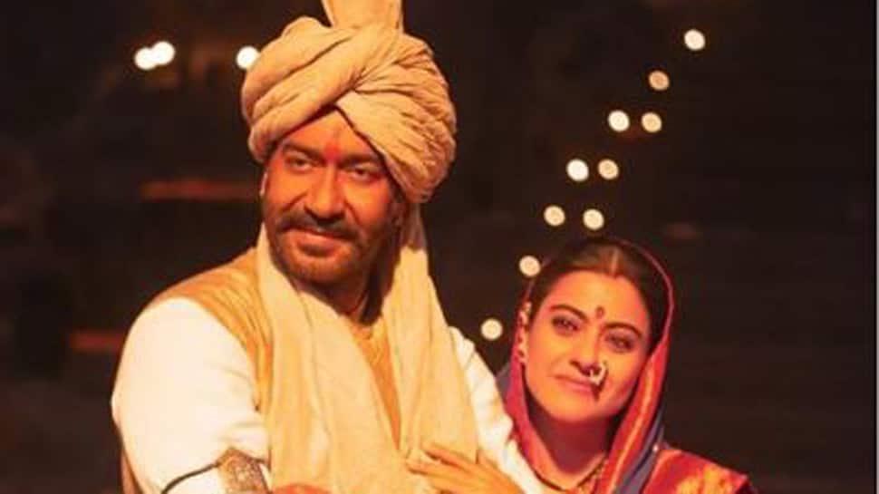 Ajay Devgn-Kajol strike a perfect pose on the sets of Tanhaji- See pic
