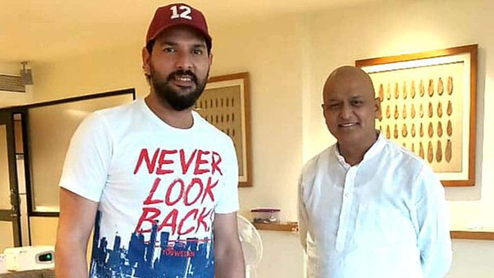 Yuvraj Singh meets BJP MP Anil Baluni battling cancer