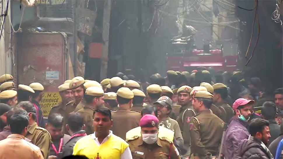 Day after death of 43 people, fire breaks out again in same Filmistan building in Delhi's Anaj Mandi