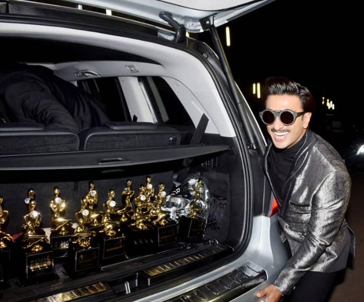 Ranveer Singh with the trophies