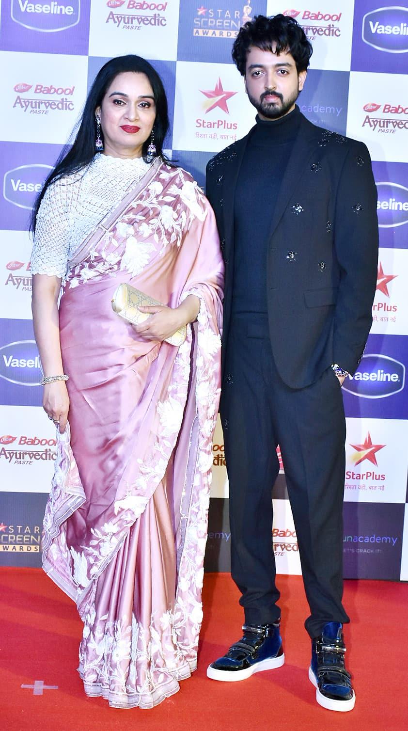 Padmini Kolhapure with son Priyaank