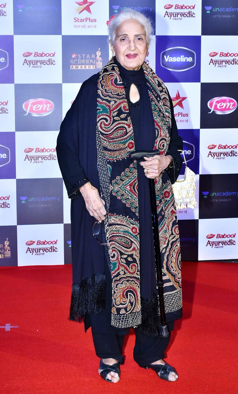 Veteran actress Kamini Kaushal won Best Supporting actress for 'Kabir Singh'