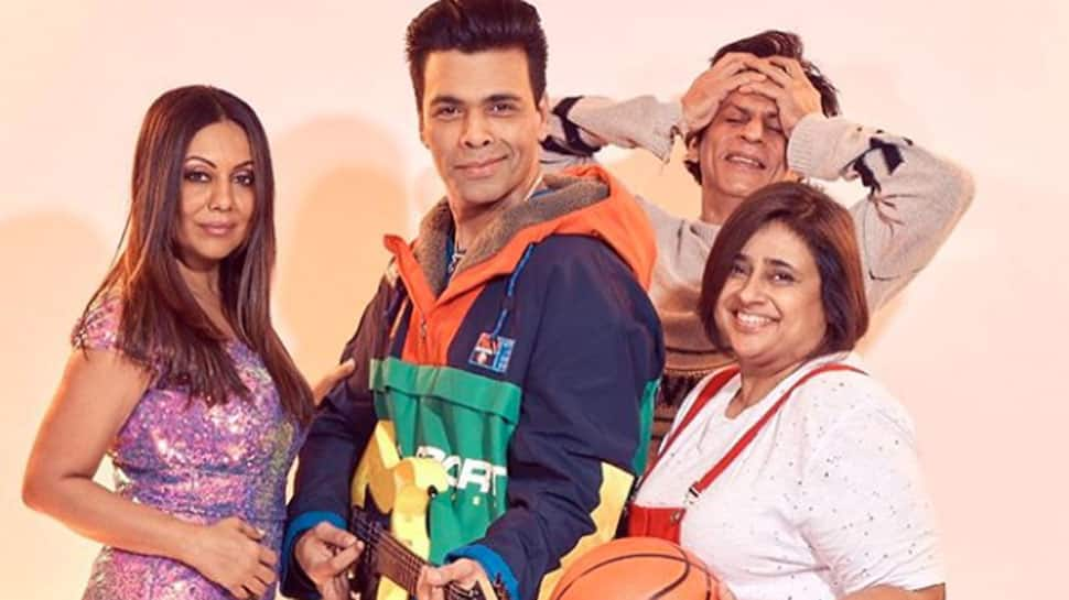 Karan Johar, Gauri Khan recreate 'Kuch Kuch Hota Hai' poster and Shah Rukh Khan's photobomb makes it picture perfect!