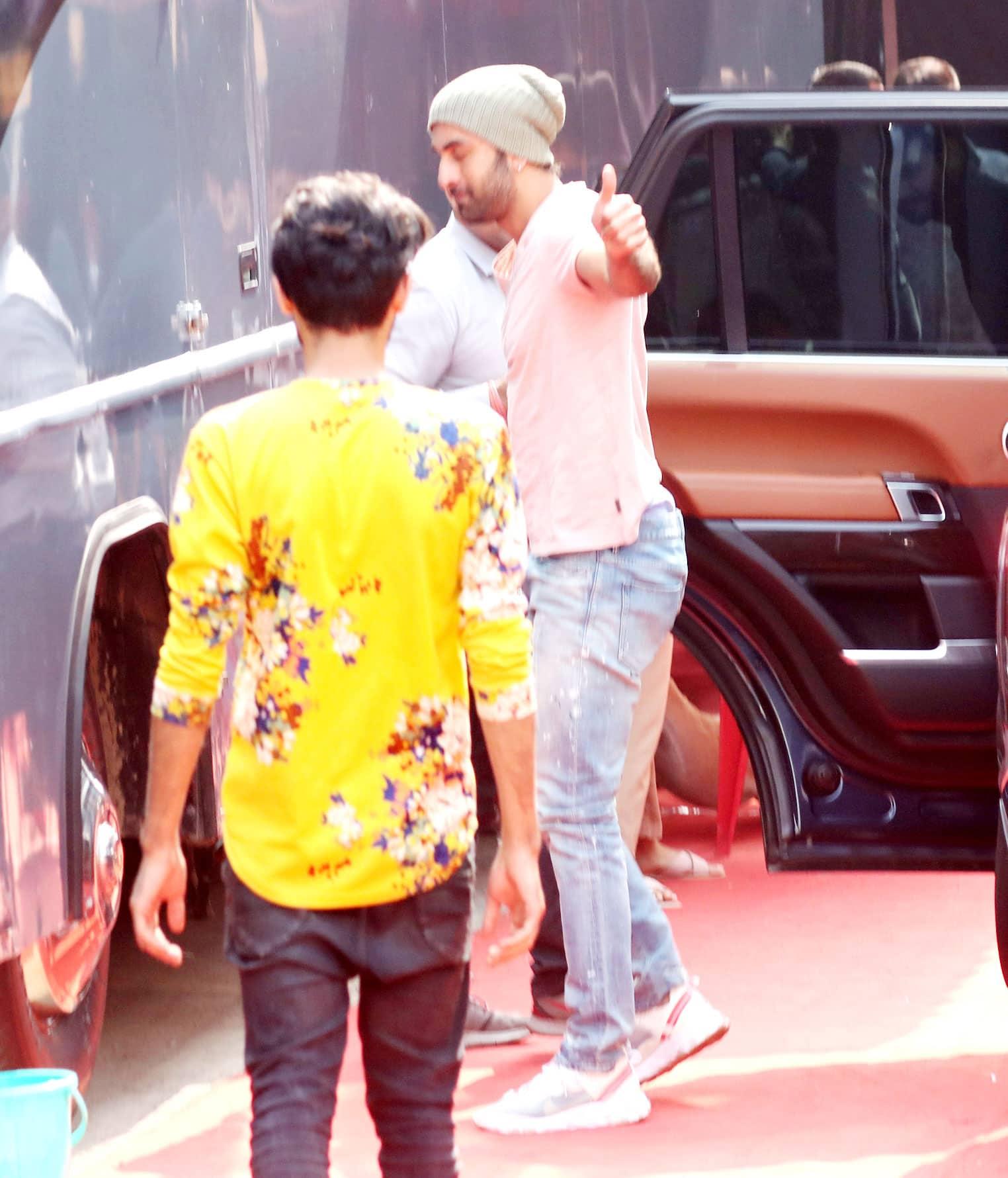 Ranbir Kapoor spotted at Goregaon