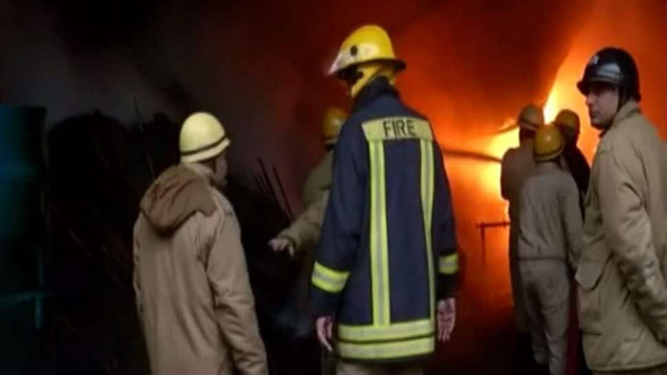 Fire breaks out in Delhi's Mundka, 21 fire tenders rush to spot