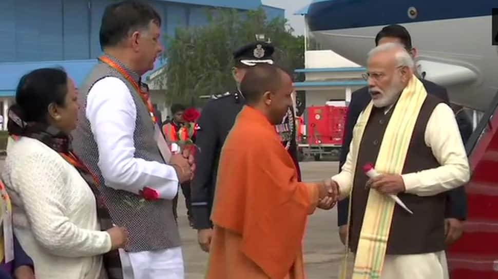 PM Modi arrives in Kanpur to chair National Ganga Council meet, reviews progress