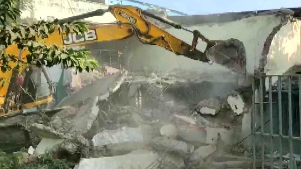 MP honey-trap: Indore Municipal Corporation demolishes Jitu Soni's brother's properties