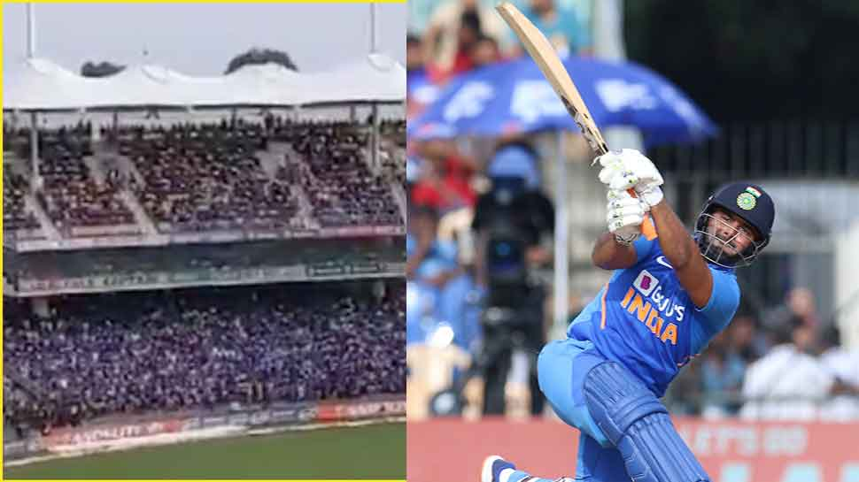 India-West Indies: Chennai fans chant Rishabh Pant's name in MS Dhoni's den - WATCH