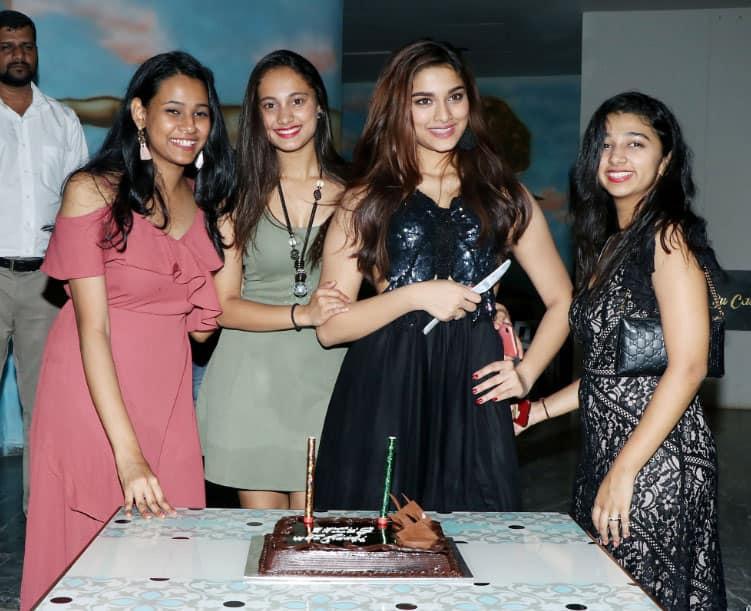 Saiee Manjrekar cuts her birthday cake