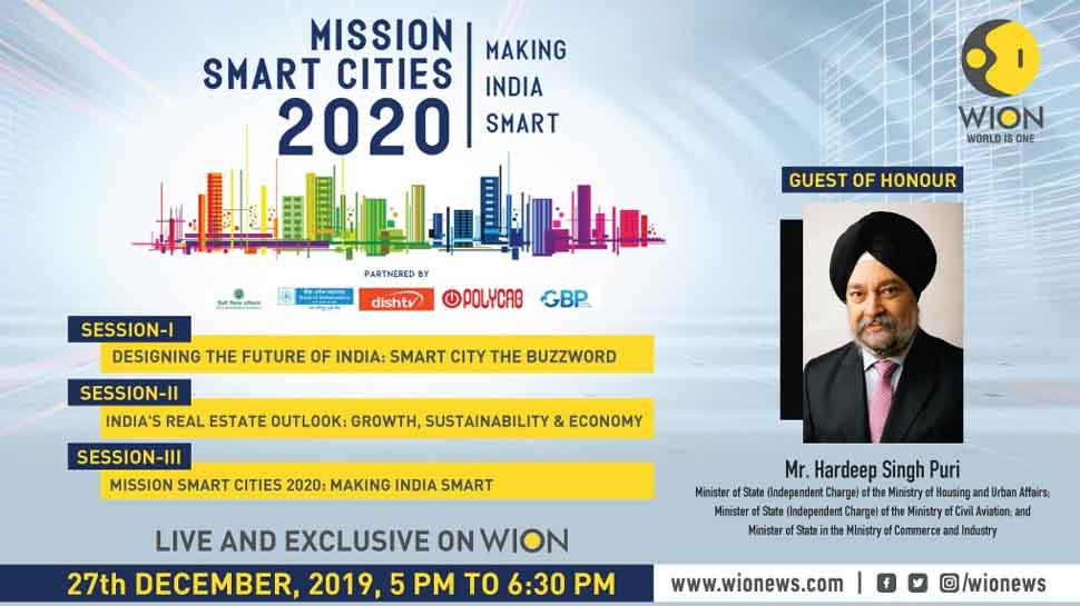 WION to host 'Mission Smart Cities 2020' event on Friday