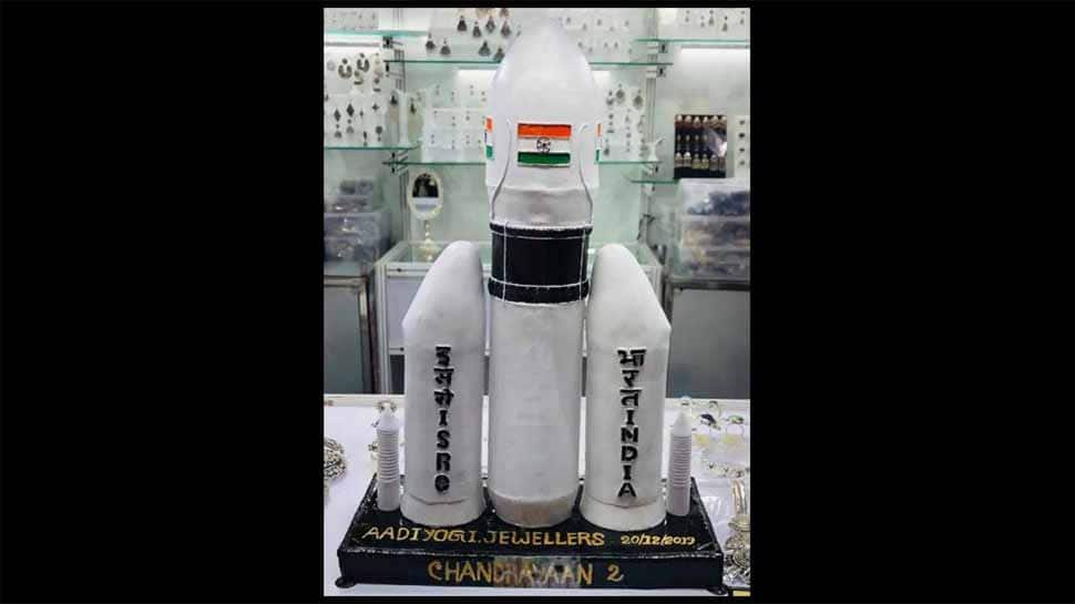 Jewelers in Jaipur craft hand-made silver replica of Chandrayaan-2, dedicate it to ISRO