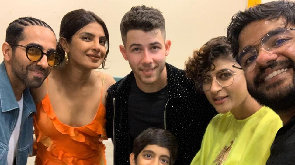 Ayushmann, family at Nick Jonas gig, daughter grooves with Priyanka