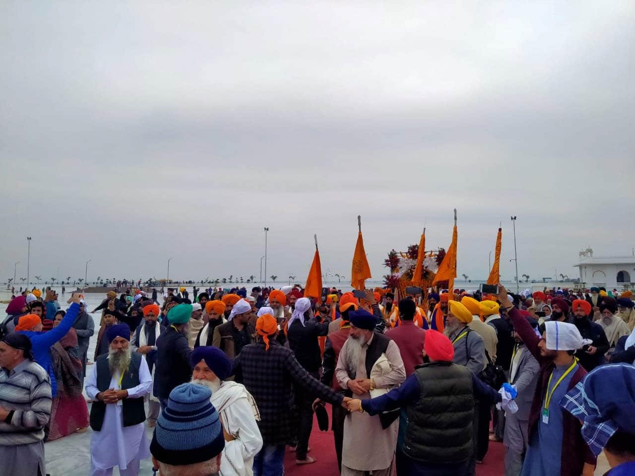 Sikh devotees partake in celebrations