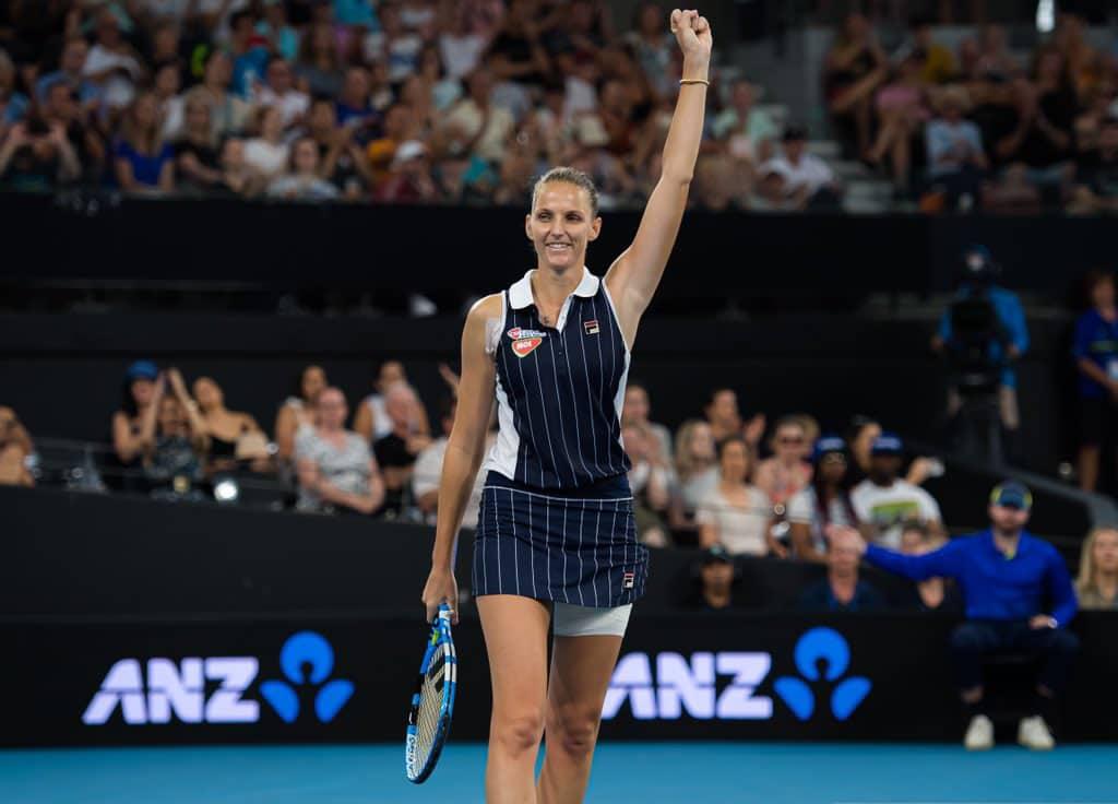 Karolina Pliskova sees off Madison Keys to defend Brisbane International title