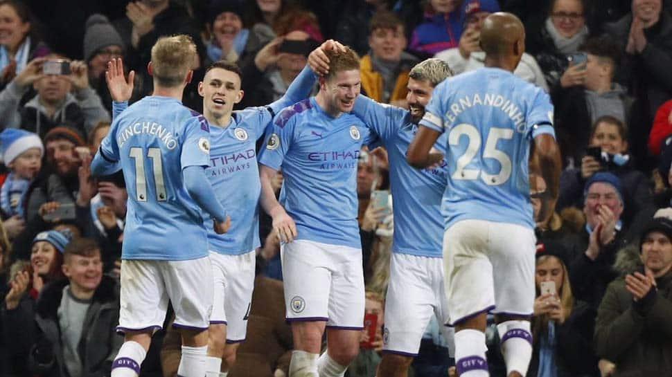 EPL: Sergio Aguero's record-breaking hat-trick helps Manchester City thrash Aston Villa