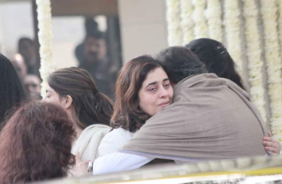 Natasha Nanda at mother's funeral