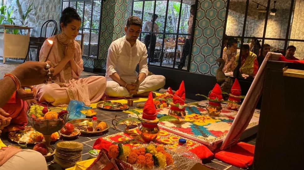 Kangana Ranaut inaugurates her new film studio in Mumbai, performs puja with family