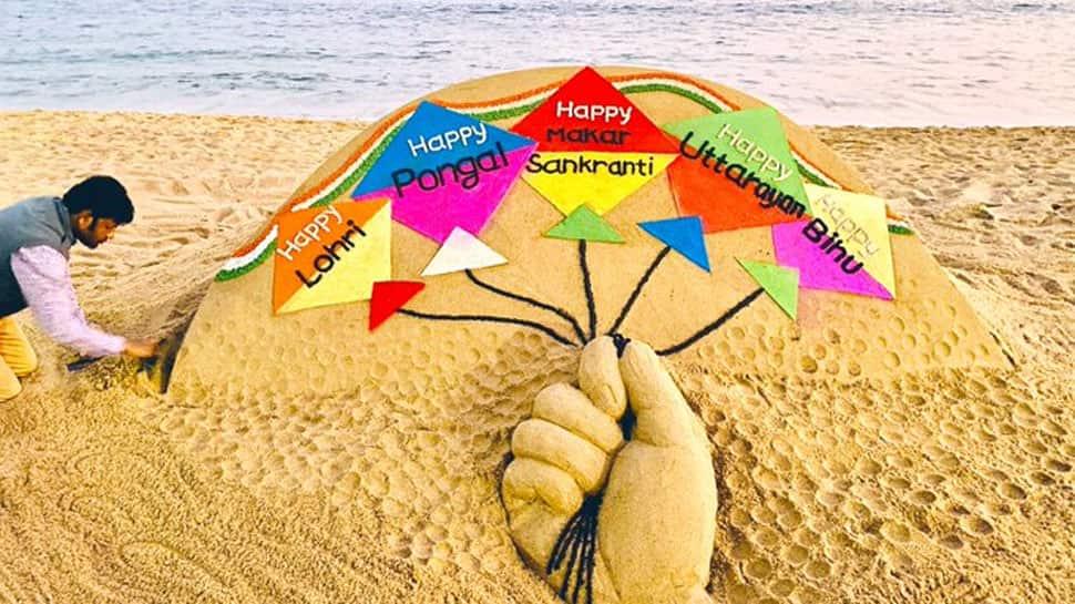 On Makar Sankranti, Pongal, Bihu and Uttarayan, Sudarsan Pattnaik's vibrant sand art promises hope