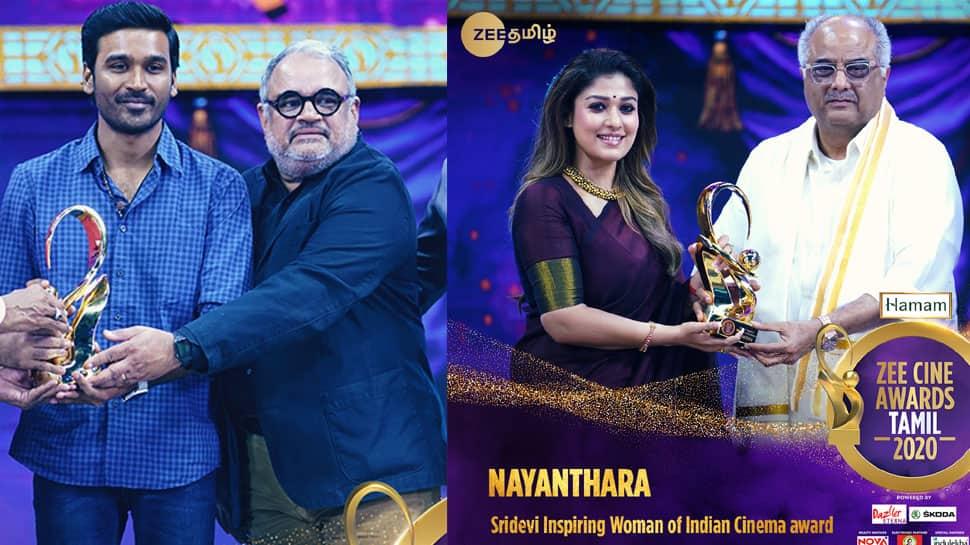 Zee Cine Awards Tamil 2020: Dhanush, Vijay, Nayanthara win top honours