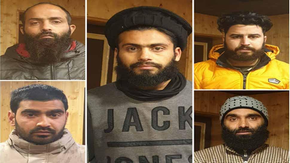 Five Jaish-e-Mohammad terrorists planning major terror strike on January 26 arrested in J&K