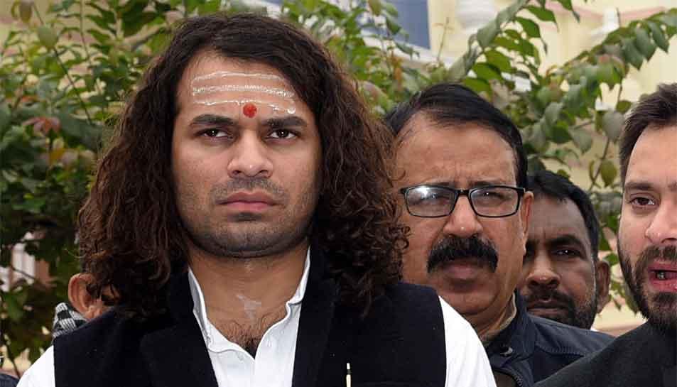 Bihar: Tej Pratap Yadav slams Nitish Kumar for human chain event in Patna
