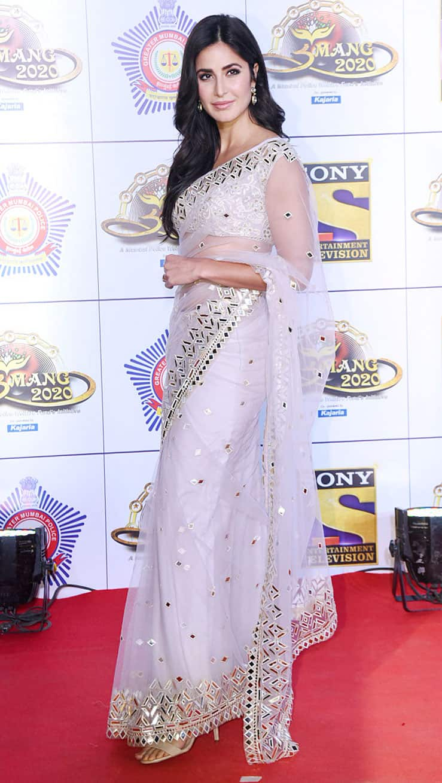 Katrina Kaif dons a shimmering saree