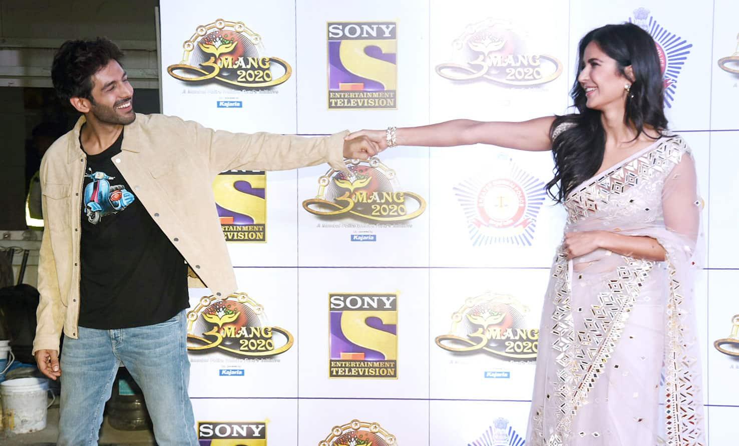 Kartik Aaryan with Katrina Kaif