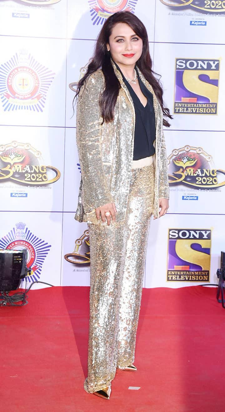 Rani Mukerji in a shimmer pantsuit