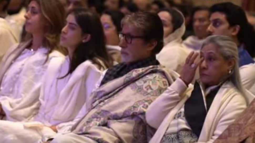 Shweta Bachchan Nanda breaks down at mother-in-law Ritu Nanda's prayer meet, Amitabh Bachchan, Rishi Kapoor pay emotional tributes