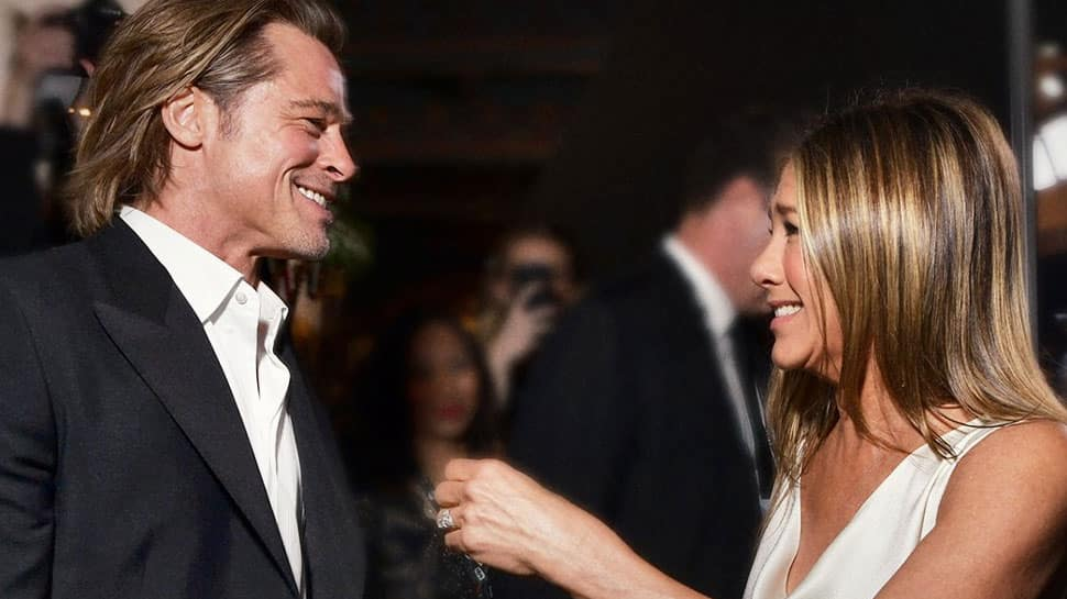 Brad Pitt reacts to reunion with Jennifer Aniston at SAG 2020