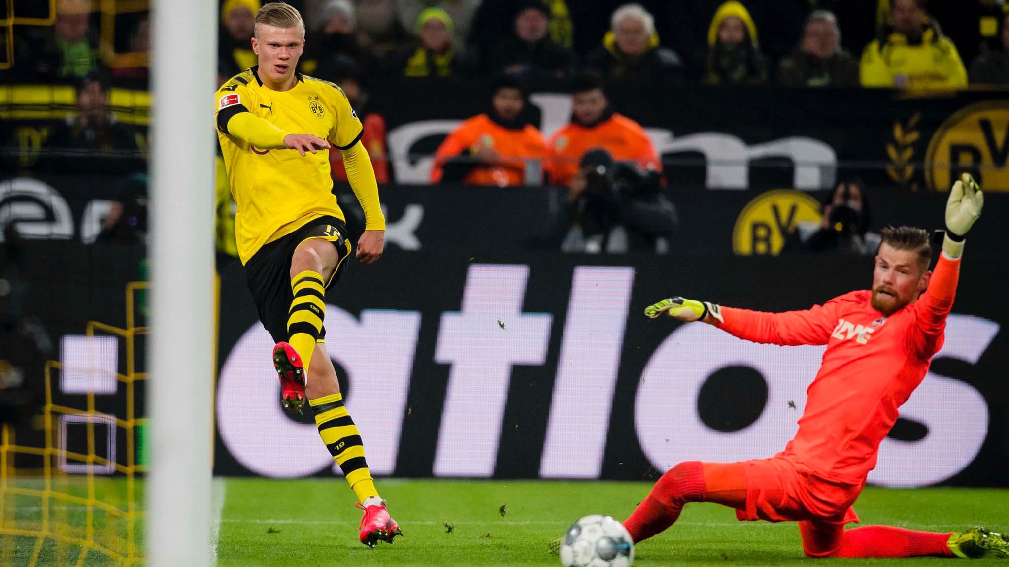 Bundesliga: Erling Haaland's brace helps Dortmund thump Cologne 5-1